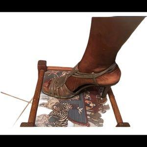 New York Transit Pewter low heel sandal